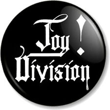 Joy Division 25mm Pin Button Badge An Ideal for Living Text New Wave Band Black