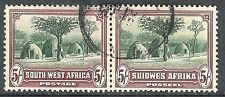 South West Africa 1931 sage-green/red-brown 5/- fine used mint SG83