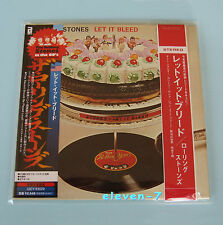 ROLLING STONES Let it bleed Japan mini LP CD incl. poster + Promo OBI