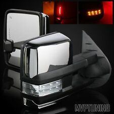 07-13 Silverado Chrome Power/Heated Defrost Tow Mirrors/Clear Lens Turn Signal