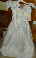Gunne Sax Jessica McClintock size 9 10 sequins & shoulder bows formal dress NOS