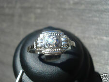 TRES BELLE BAGUE ANCIENNE ART DECO/OR GRIS/PLATINE/DIAMANT/T.54 1/2