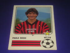 FOOTBALL SOCCER CHAMPIONS STICKERS FORZA GOAL 1985-86 MILAN PAOLO ROSSI NEW-MAX