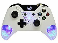 Skulls Blue Illuminating Xbox One Rapid FIre Modded Controller 35 MODS Snip