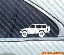 2X Lifted offroad truck stickers - for Mitsubishi Pajero (2nd gen 1991-1999)