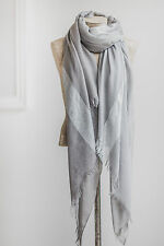 Tutti & Co. Grey & Silver tonal metallic Scarf Shawl, gift idea