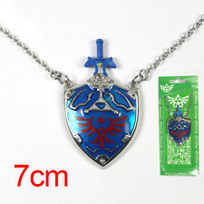 Cos The Legend of Zelda Hylian Shield Links Master Metal Sword Necklace Pendant