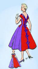 1950s Vintage Modes Royale Sewing Pattern D-169 Uncut Misses Cocktail Dress 32 B