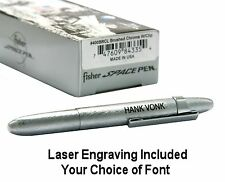 Fisher Space Pen #400BRCL / Personalized Brushed Chrome Bullet Pen with Clip