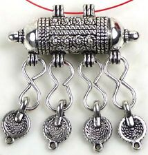Pewter Slide Pendant Dangle Connector 2mm cord ~ Lead free