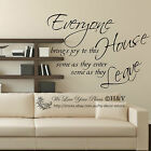 """""""Everyone Brings Joy"""" Wall Art Quote Removable Stickers Vinyl Decals Home Decor"""