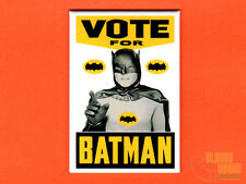 "Vote for Batman 2x3"" fridge/locker magnet 60's Batman TV poster Adam West"
