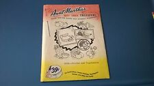 Vintage Aunt Martha's Hot Iron Transfers #3632 Fruits & Vegetables Crafts
