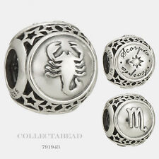 Authentic Pandora Sterling Silver Zodiac Scorpio Star Sign Charm Bead 791943