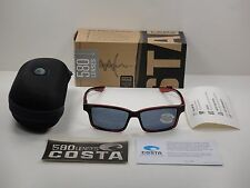 COSTA DEL MAR TERN POLARIZED SUNGLASSES TE48 OGP POMEGRANATE FADE/GRAY 580P LENS
