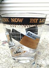 Vintage Mid Century Georges Briard Drink Now Pay Later Bar Drinking Glass