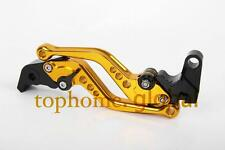Short Gold CNC Clutch Brake Levers For YAMAHA YZF R6 2003 2000 2001 1999-2004