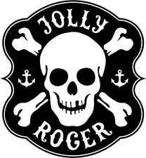 "Jolly Roger Car Bumper Sticker 4"" x 5"""
