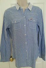 NWT Hollister by abercrombie Women Stripe Button-Down Shirt, size Medium