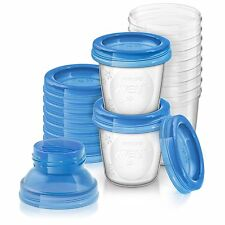 Philips Avent Reusable Breast Milk Storage Cups (10 x 180 ml)