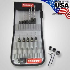 Snappy Professional Drill Bit Adapter & Countersink Quick Change Set MADE IN USA