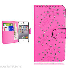PU Leather Bling Wallet Diamond Style Case cover For Apple / Samsung Galaxy