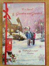 Grandma and Grandad Christmas New Year Greeting Note LARGE Card *NEW* (C63)