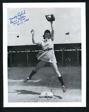 Maddy English AAGPBL HOF Signed Autographed 8 x 10 Photo Racine Belles