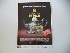 advertising Pubblicità 1966 TE' THE' STAR TEA