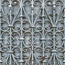 Muriva Iron Trellis Pattern Wallpaper Modern Ornate Photographic Gate L14701