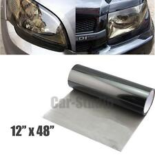 "1p of 12x48"" Smoked Black Front Headlight Vinyl Wrapping Sheet Film Sticker"