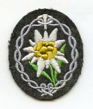 Original Wehrmacht Heer Ärmelabzeichen für Gebirgsjäger Mannschaften Edelweiß
