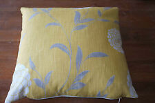 Laura Ashley 'Erin' Mimosa fabric Cushion Cover 16in x 16in Square  New