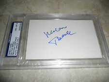 Milton Berle Hollywood Signed Autographed Index Card PSA Certified NM-MT 8