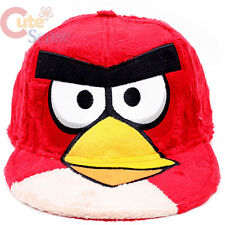 Angry Birds Plush Flat Bill Cap Hat  Snap Back Adjustable Teen Adults  Mens Size