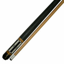 "58""  2 Piece Hardwood Canadian Maple Pool Cue Billiard Stick  W Irish Wrap 21 Oz"