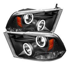 Pair CCFL Halo Projector Head Lights Dodge Ram 1500-5500 2009-2012 ST SLT Black