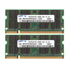 Samsung 2GB 2X 1GB DDR2 2RX8 PC2-4200S 533mhz 200pin SO-DIMM Laptop Memory RAM