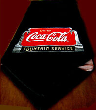 "COCA COLA BLACK TAPESTRY TABLE RUNNER (RETIRED) MINT! 13"" x 70"""