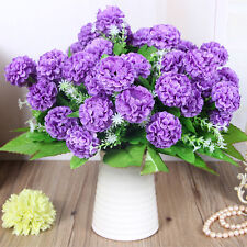 8 Heads Artificial Hydrangea Bouquet Party Home Wedding Fake Bridal Silk Flowers