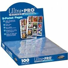 Ultra Pro Silver Series 9 Pocket Trading Card Pages Box 100 Brand New