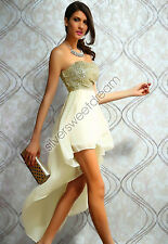 DRESS TAIL chiffon SEQUINS mini CORSET WOMAN PROM CEREMONY EVENING PARTY WEDDING