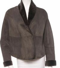 NWT $4,475 Jil Sander Italy shearling Leather Jacket Coat 42
