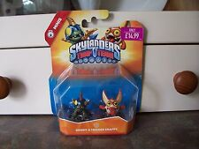 SKYLANDERS Trap Team: Drobit & Trigger Snappy - Tech Mini Duo Pack  - BRAND NEW