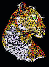 Sequin Art Leopard Craft Kit by KSG SA1208