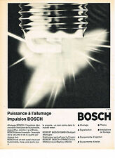 PUBLICITE ADVERTISING 0314   1965   BOSCH     allumage  équipement automobile