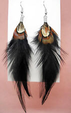 F1472 black Feather simple light cute dangle earrings hot sell jewelry