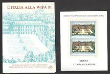 LIBRETTO IPZS ITALIA 1981 PARTECIPAZIONE A WIPA 81 CON FOGLIETTO