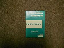 1990 SUZUKI SAMURAI Factory Owners Operators Owner Manual OEM FACTORY NEW