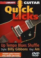 LICK LIBRARY Learn to Play QUICK LICKS BILLY GIBBONS Blues ZZ Top GUITAR DVD